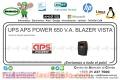 UPS APS POWER 650 V.A. BLAZER VISTA