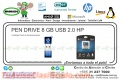 PEN DRIVE 8 GB USB 2.0 HP