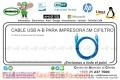 CABLE USB A-B PARA IMPRESORA 5M C/FILTRO