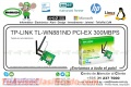 WIRE NE TP-LINK TL-WN881ND PCI-EX 300MBPS