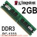 MEMORIA DDR3 2GB 1333 MHZ KINGSTON