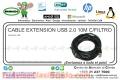 CABLE EXTENSION USB 2.0 10M C/FILTRO