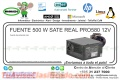FUENTE 500 W SATE REAL PRO580 12V