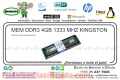MEM DDR3 4GB 1333 MHZ KINGSTON