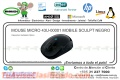 MOUSE MICRO 43U-00001 MOBILE SCULPT NEGRO
