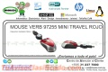 MOUSE VERB 97255 MINI TRAVEL ROJO