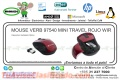 MOUSE VERB 97540 MINI TRAVEL ROJO WIR