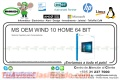 MS OEM WIND 10 HOME 64 BIT