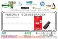 PEN DRIVE 16 GB USB SANDISK