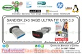 SANDISK Z43 64GB ULTRA FIT USB 3.0