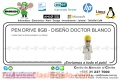 PEN DRIVE 8GB - DISEÑO DOCTOR BLANCO