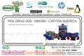 PEN DRIVE 8GB - MINION - CAPITAN AMERICA