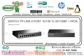 SWITCH TP-LINK 8 PORT 10/100 TL-SF1008P + 4POE