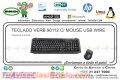 TECLADO VERB 98112 C/ MOUSE USB WIRE