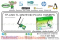 TP-LINK TL-WN781ND PCI-EX 150MBPS